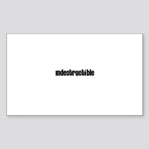 Indestructible Rectangle Sticker
