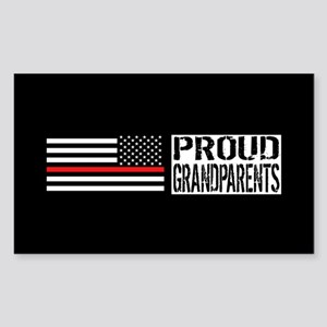 Firefighter: Proud Grandparent Sticker (Rectangle)
