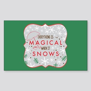 Magical When It Snows Sticker (Rectangle)