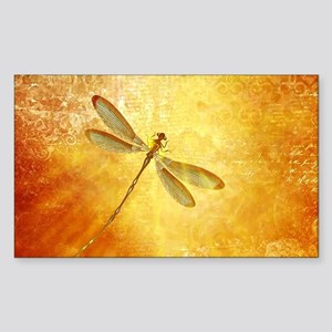 Golden dragonfly Sticker