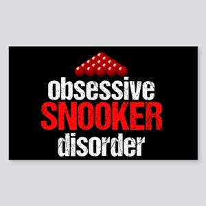 Funny Snooker Sticker (Rectangle)
