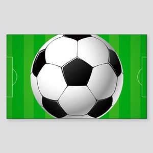 Football Ball And Field Sticker