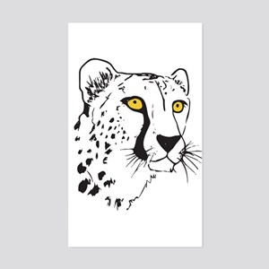 Silhouette Cheetah Rectangle Sticker