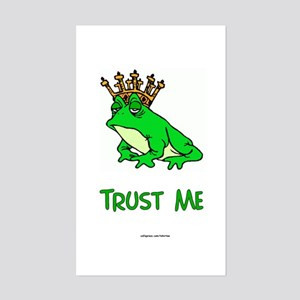 Trust Frog Rectangle Sticker