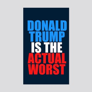 Anti Trump Humor Sticker (Rectangle)