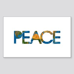 World Peace Sticker (Rectangle)