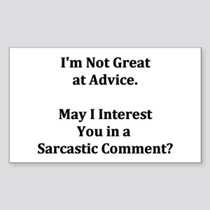 Sarcastic Comment Rectangle Sticker