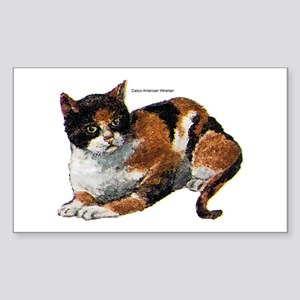 Calico Cat Rectangle Sticker