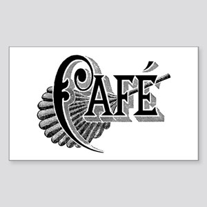 Cafe Rectangle Sticker
