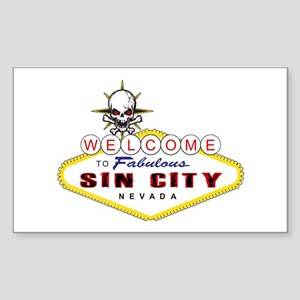 Las Vegas-Sin City Sign-2 Sticker