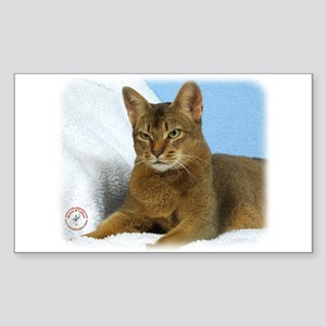 Abyssinian Cat 9Y009D-020 Sticker (Rectangle)