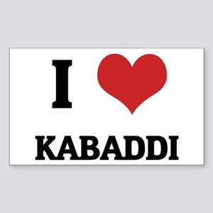 I Love Kabaddi Rectangle Sticker