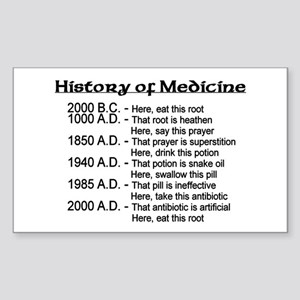 History of Medicine Rectangle Sticker