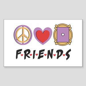 Peace Love Friends Sticker