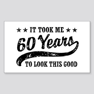 Funny 60th Birthday Sticker (Rectangle)