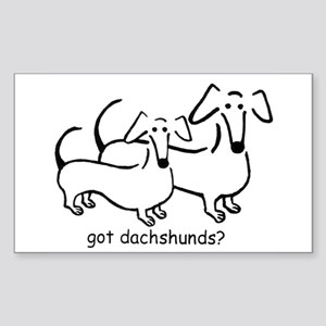 got dachshunds? Sticker