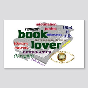 Book Lover Rectangle Sticker