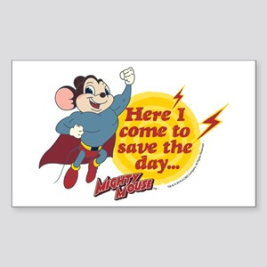 Mighty Mouse: Save The Day Sticker (Rectangle)