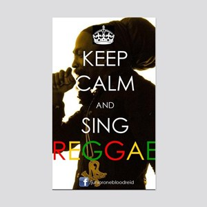 Keep Calm and Sing Sticker (Rectangle)
