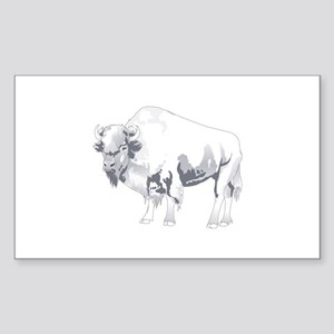 White Buffalo Sticker