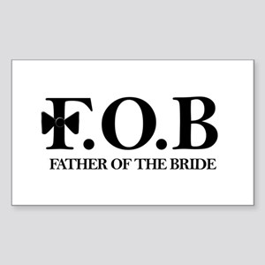 Father of the Bride Rectangle Sticker