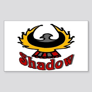 Shadow Eagle Rectangle Sticker