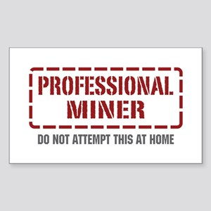 Professional Miner Rectangle Sticker