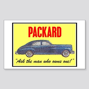 """1946 Packard Slogan"" Rectangle Sticker"