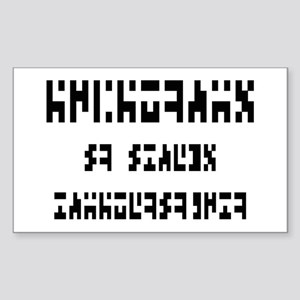 The Intergalactic Language Rectangle Sticker