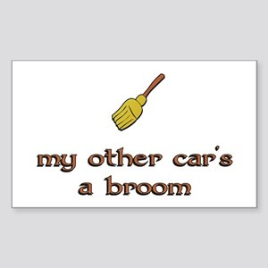my other car's a broom Rectangle Sticker