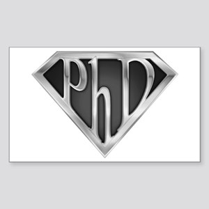Super PhD - metal Rectangle Sticker