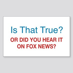 Anti Fox News Sticker (Rectangle)