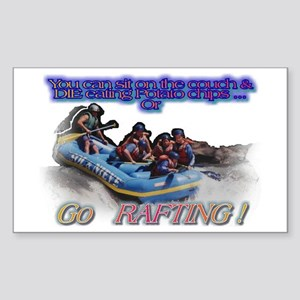 Go Rafting Rectangle Sticker
