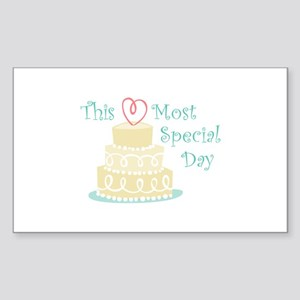 Most Special Day Sticker