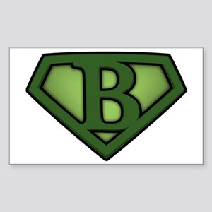 Super green b Sticker (Rectangle)