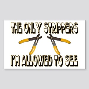 Only Strippers Rectangle Sticker
