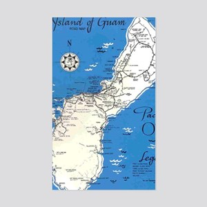 GUAM MAP Sticker (Rectangle)
