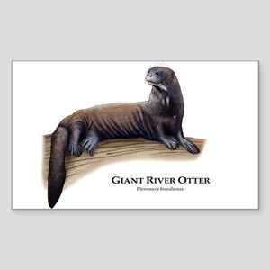 Giant River Otter Sticker (Rectangle)