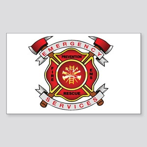 Fire Department Rectangle Sticker