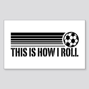 Soccer Sticker (Rectangle)