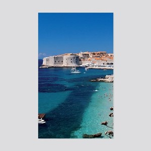 Croatia by the Beach  Sticker (Rectangle)