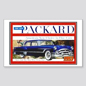 """1953 Packard Ad"" Rectangle Sticker"
