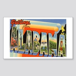 Alabama Postcard Rectangle Sticker