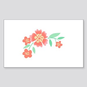 Floral Accent Sticker
