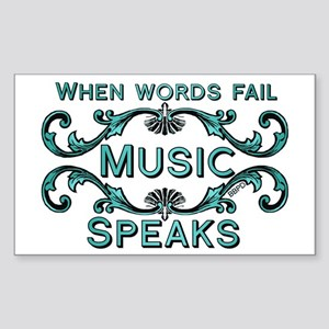 Music Speaks Sticker