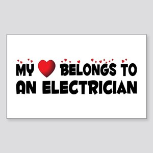 Belongs To An Electrician Rectangle Sticker