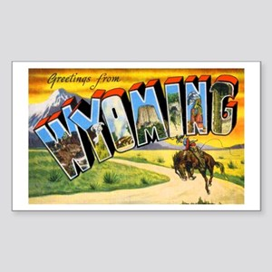 Wyoming Greetings Rectangle Sticker