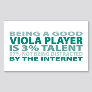 Good Viola Player Rectangle Sticker