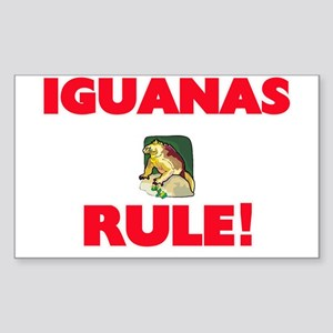 Iguanas Rule! Sticker