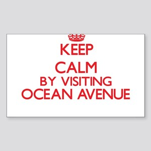Keep calm by visiting Ocean Avenue Massach Sticker
